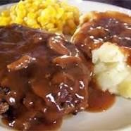 foodiesgalore Salisbury Steak dinner