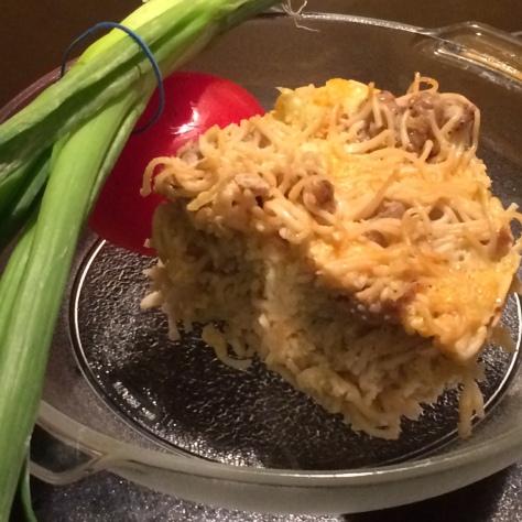 foodiesgalore.com Baked Spaghetti Casserole
